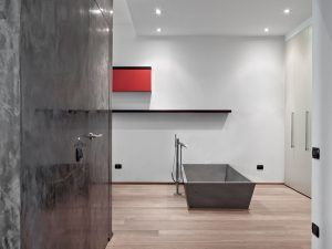 Interior of a luxury bathroom | Featured image for timber flooring suppliers.