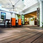 Outdoor deck with parasol | Featured image for Hardware supplies Brisbane landing page.